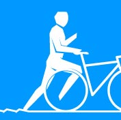 london 2012 olympic pictogram triathlon