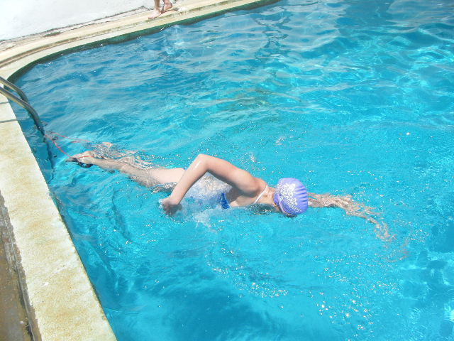Swimming in a 20m pool