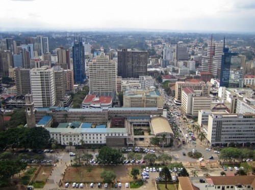 Nairobi CBD area Kenya