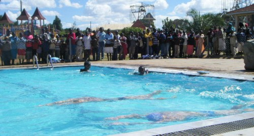 Swimming with an audience, Eldoret