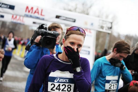 Lisa Nordén går i mål på 2013 års upplaga av premiärmilen