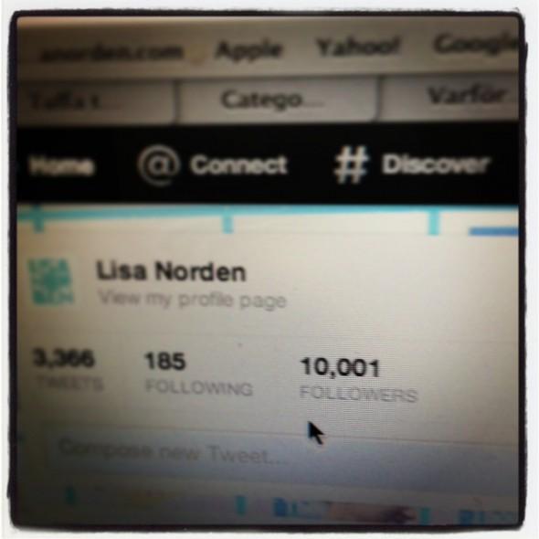 10000 followers på twitter