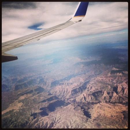 The Grand Canyon från ovan