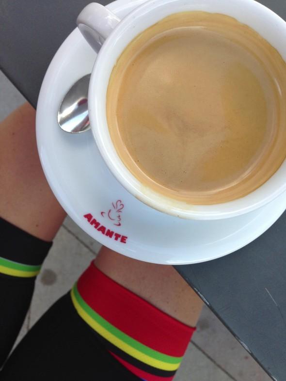 Kaffe på cykelstället Amante