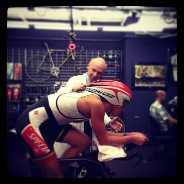Lisa Norden med Andry Pruitt på Boulder Center for Sports Medicin