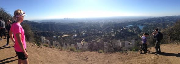 Utsikt från Hollywood skylten