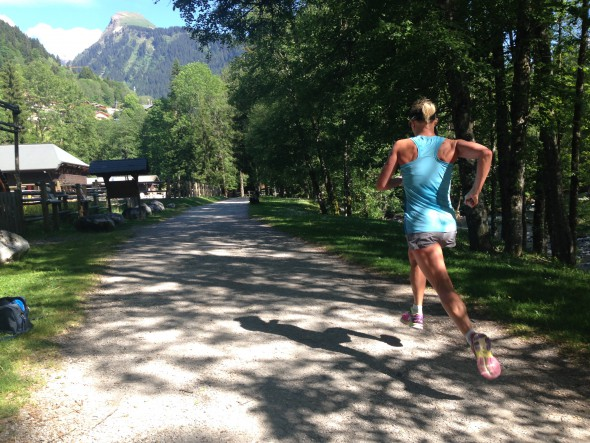 Lisa Norden springer i Morzine