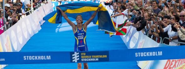 lisa norden ambassadör för vattenfall stockholm triathlon