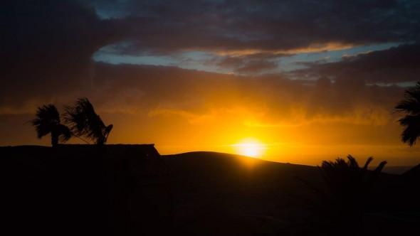 Solnedgång La Pared
